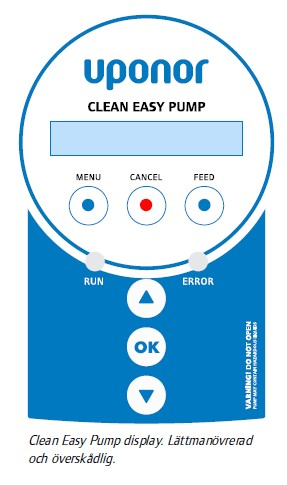 Uponor clean easy pump